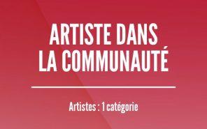 Prix Artiste dans la communauté